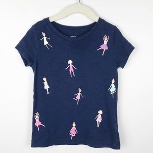 Carter's - 5T Girls Blue Ballerina T-Shirt